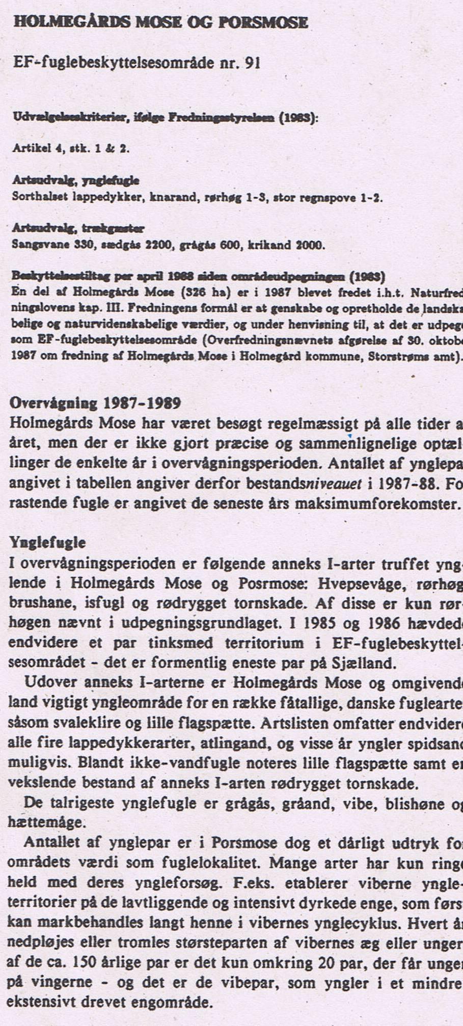 Om EF-fuglelokalitet nr.91 1990