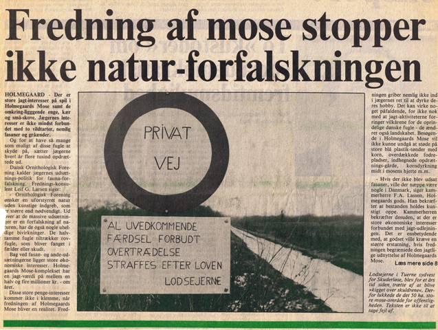 Næstved Tidendes forside 23. november 1985