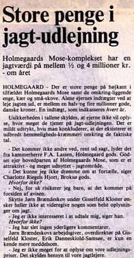 Læs mere om jagtforretningen i Mosen anno 1985 her